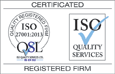 ISO 27001 certification from ISO Quality Services Ltd