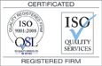 ISO 9001 certification from ISO Quality Services Ltd